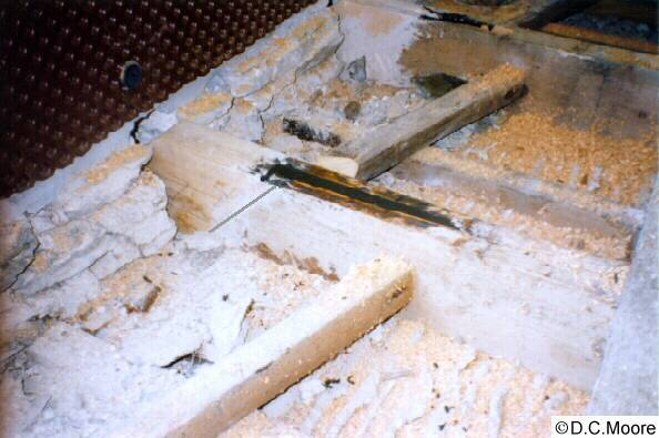 Save a Ceiling joist repair timber resin splice fitted and resin poured