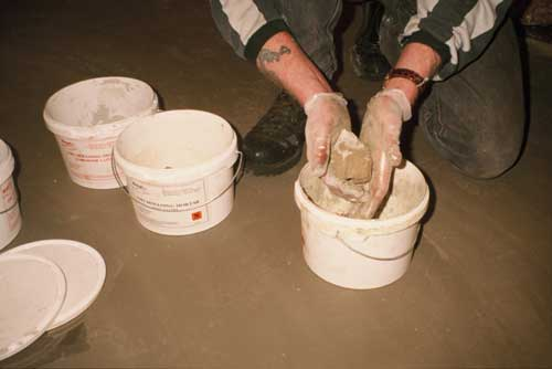 Mixing Mouldable Epoxy Putty by hand - always wear gloves